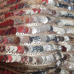 Dresses - SILVER SEQUIN DRESS